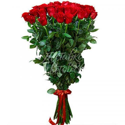 Роза красная 120 см!