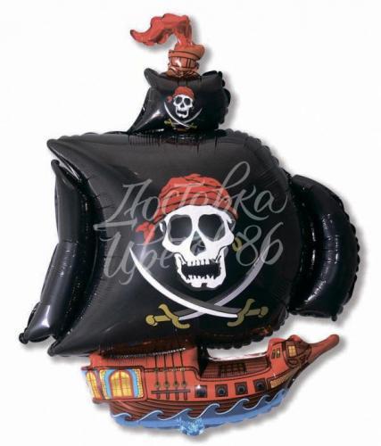 """Шар фигура """"Пиратский корабль"""" Черный"""