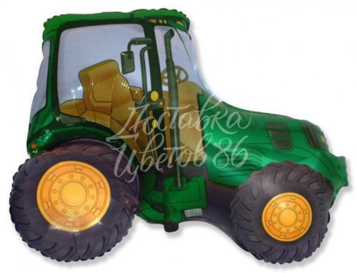 """Шар фигура """"Трактор"""" (зеленый)"""
