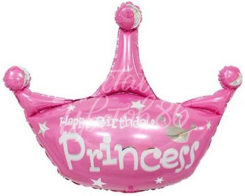 Шар Фигура Корона, СДР, Принцесса, Розовый
