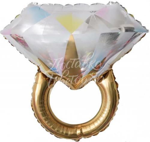 "Шар Фигура ""Кольцо с бриллиантом"" Золото"